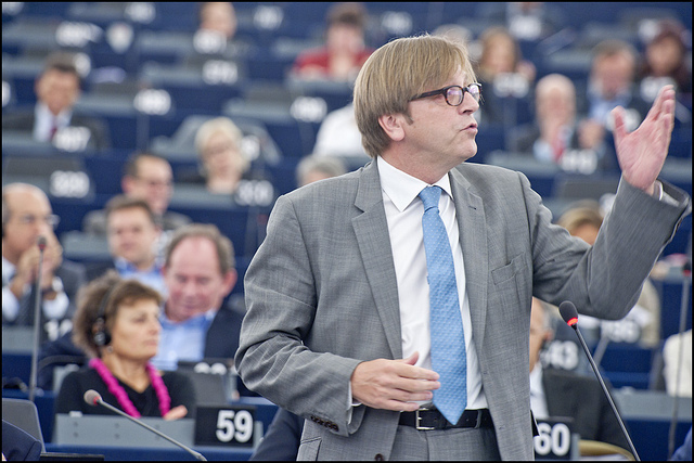One of the most recognizable faces of the EP: Guy Verhofstadt
